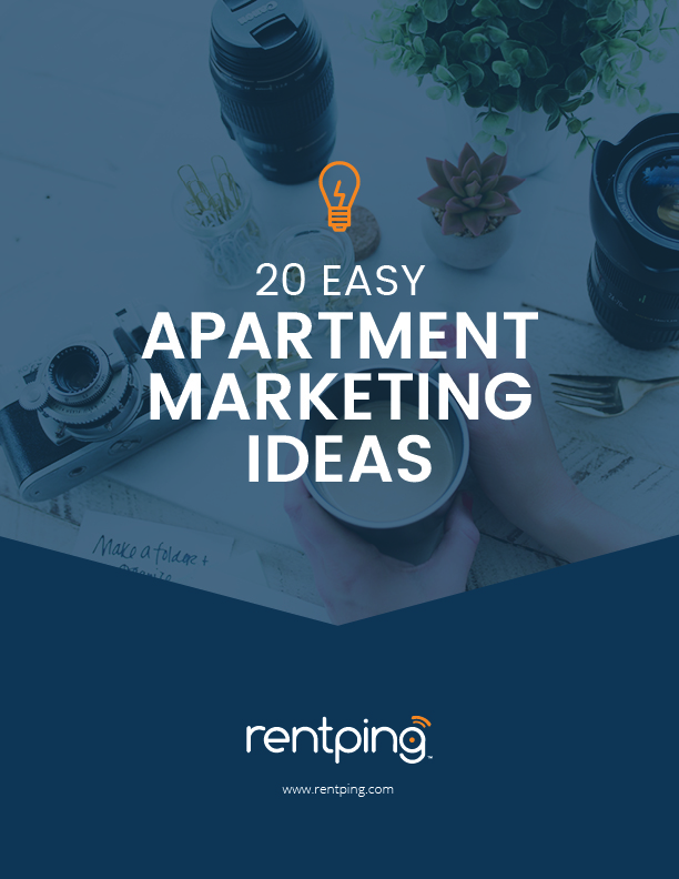 20 easy apartment marketing ideasebook cover