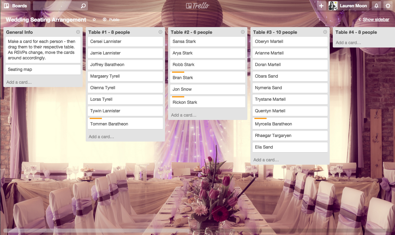Say Yes To Less Stress Using Trello To Plan A Wedding