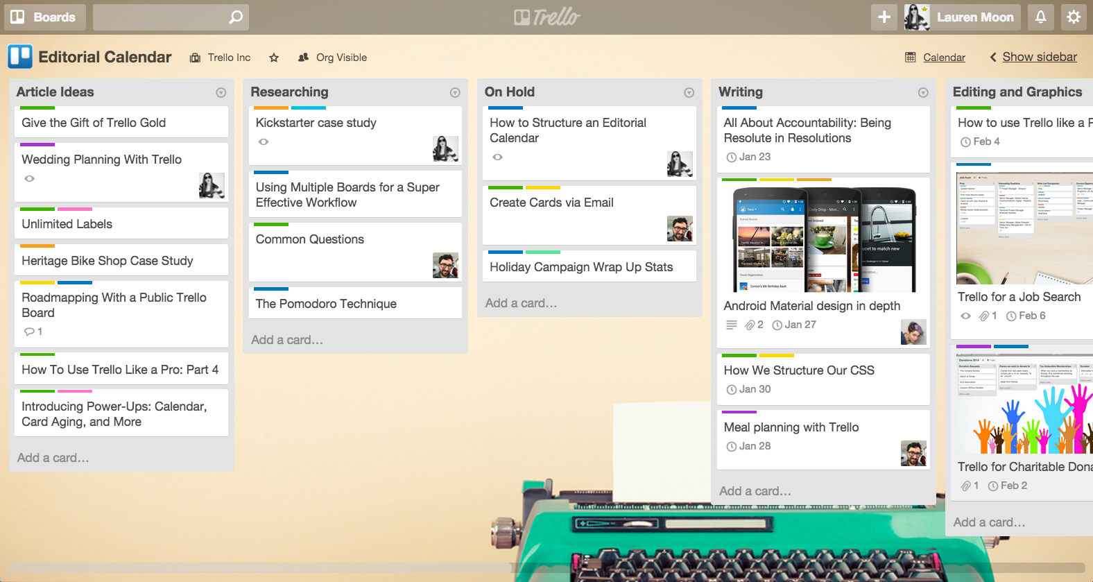 Moved To Published: Using Trello As An Editorial Calendar