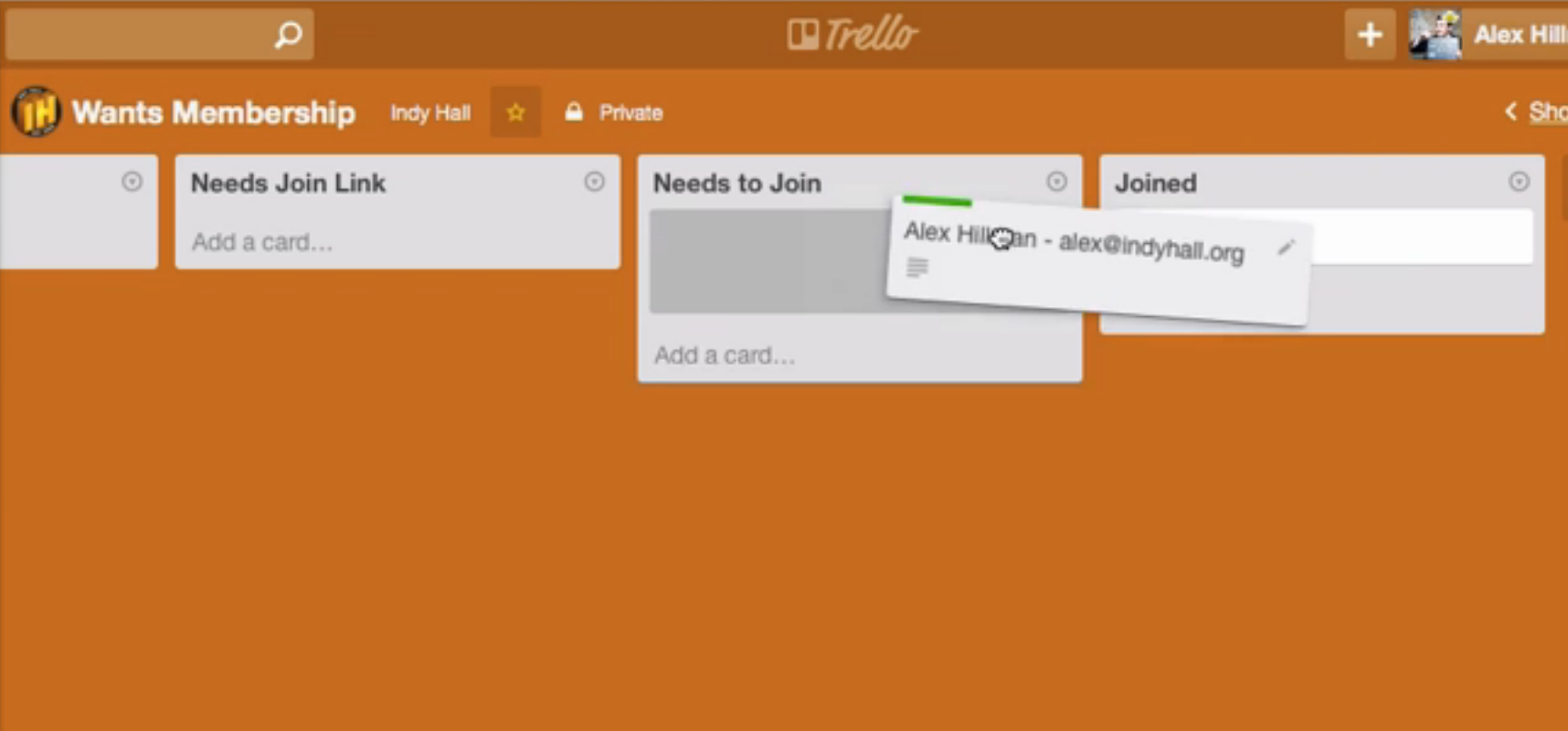 how to follow a list in trello