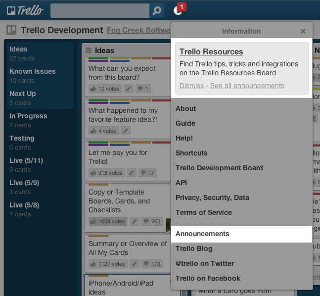 how to delete notifications trello