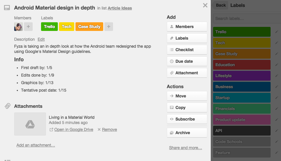 Moved To Published Using Trello As An Editorial Calendar