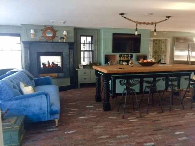 reclaimed thin brick flooring