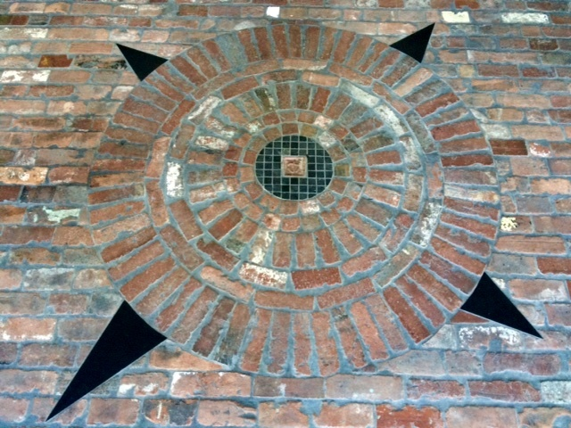 brick compass rose