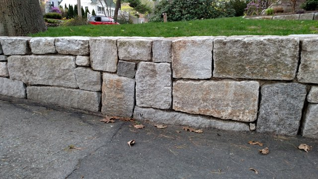 Reclaimed Granite Block Wall