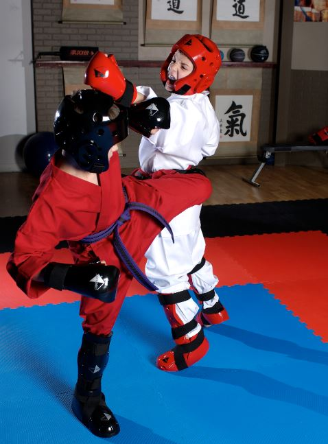 student sparring