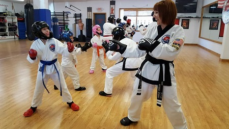 Children wearing Century Martial Arts Student Sparring Gear.