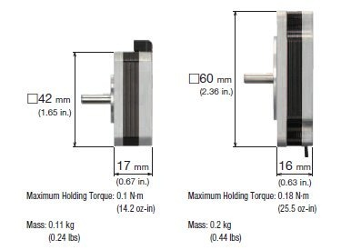 New Flat Type Stepper Motor dimensions