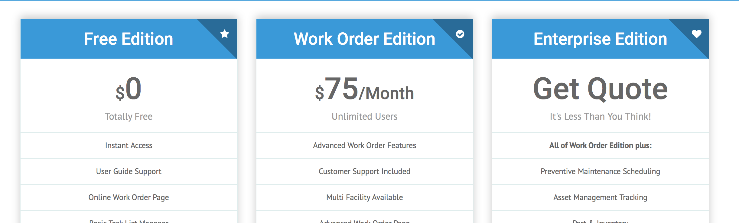 Free CMMS Software for Work Orders & Preventative Maintenance