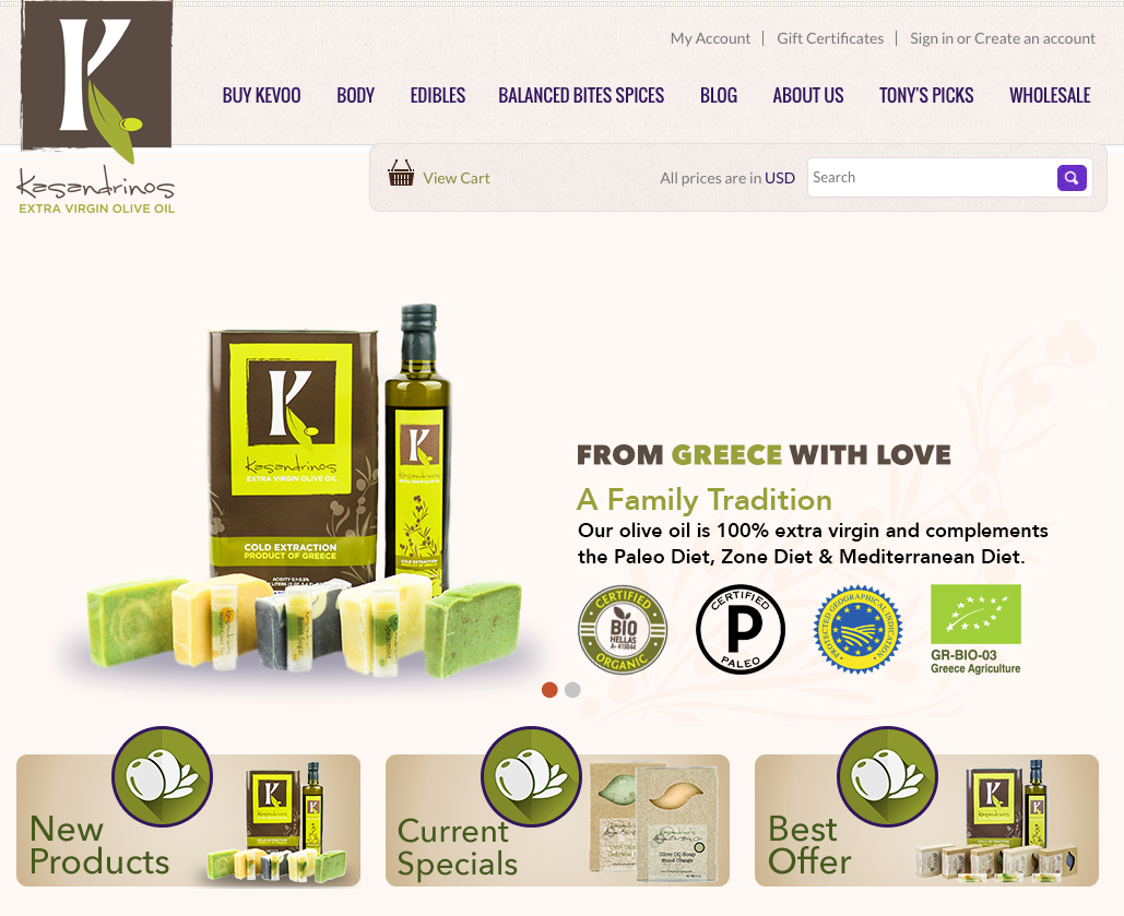 Kasandrinos website.png