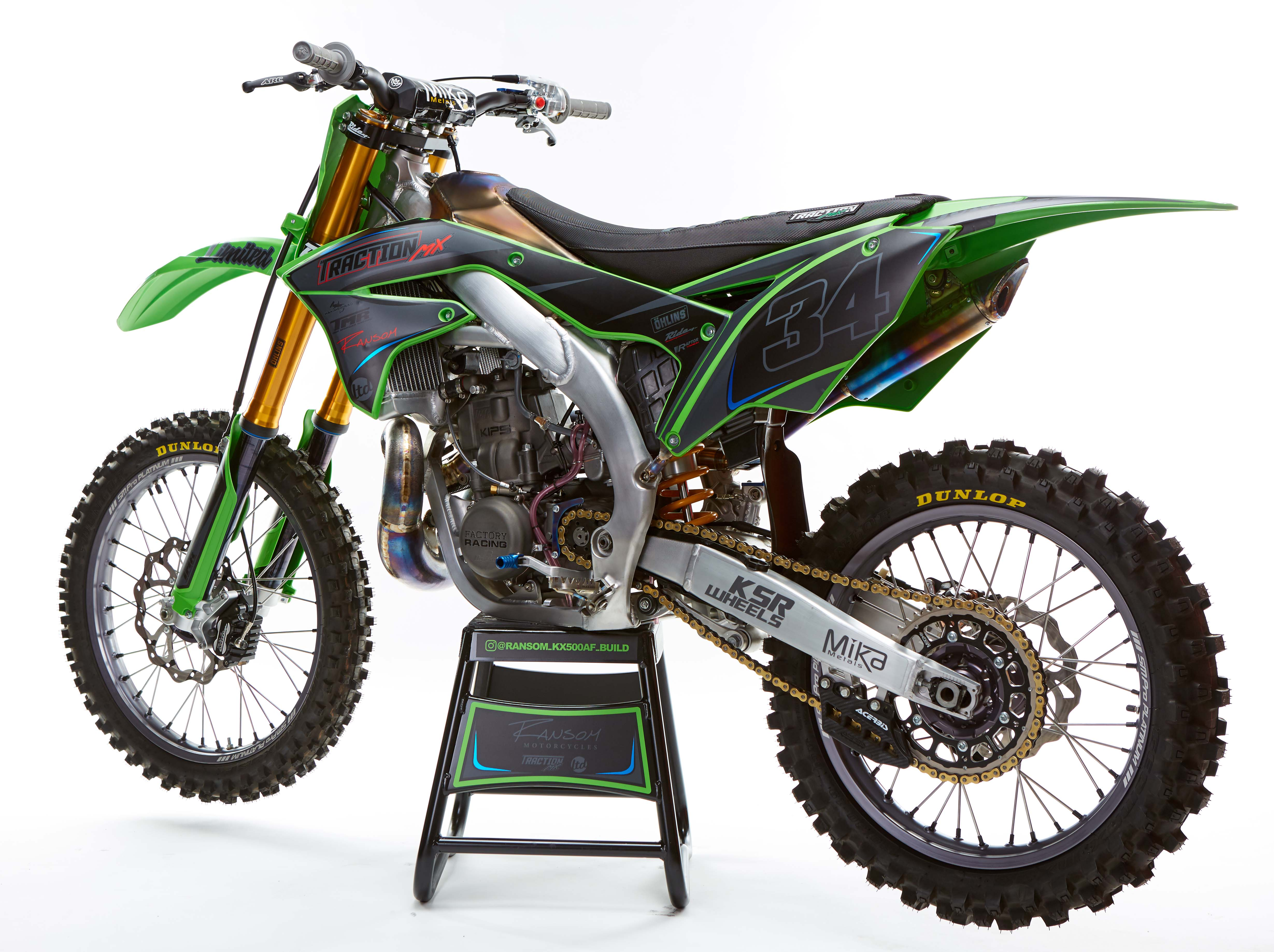 Work of Art: Ransom Kawasaki KX500 Aluminum Frame Bike Build