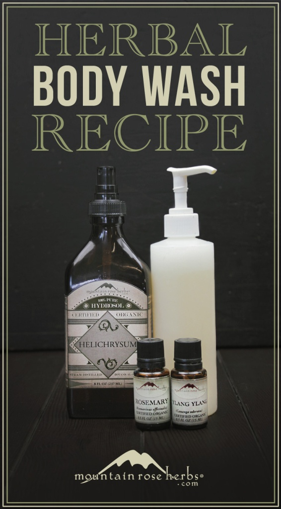 make your own herbal body wash