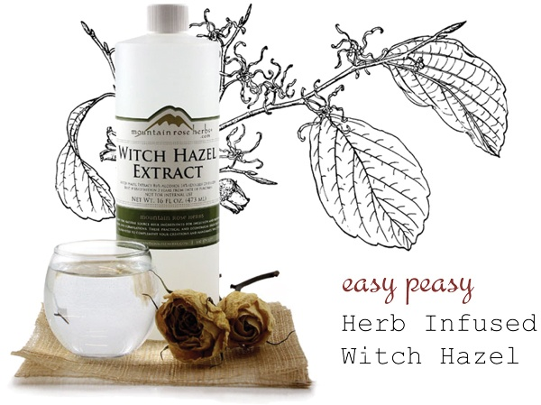 How to Make Herb Infused Witch Hazel
