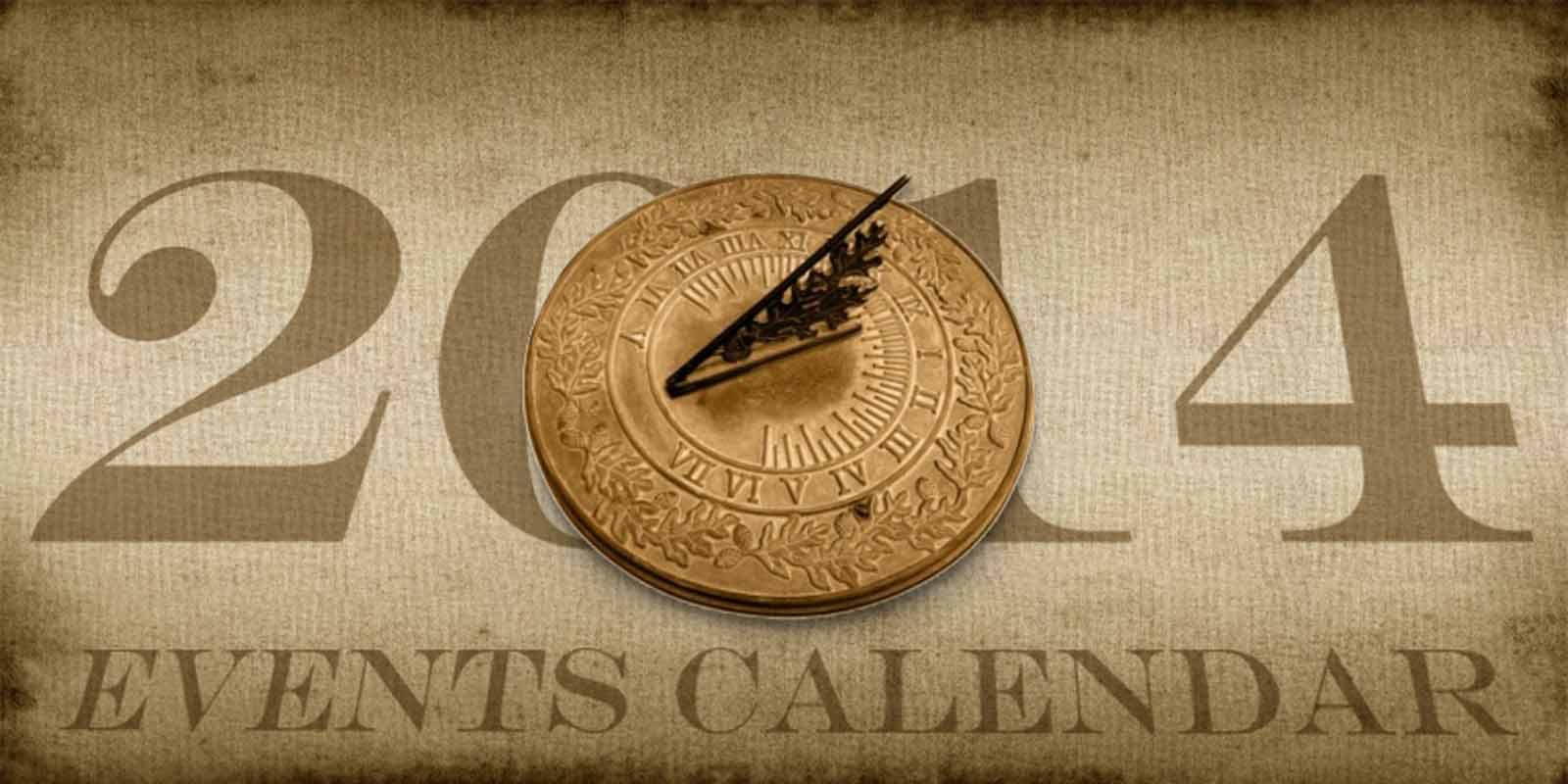 Events Calendar for 2014!