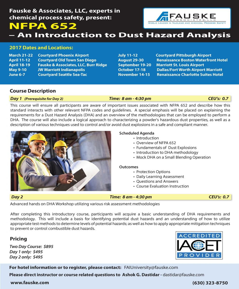 NFPA 652 – An Introduction to Dust Hazard Analysis