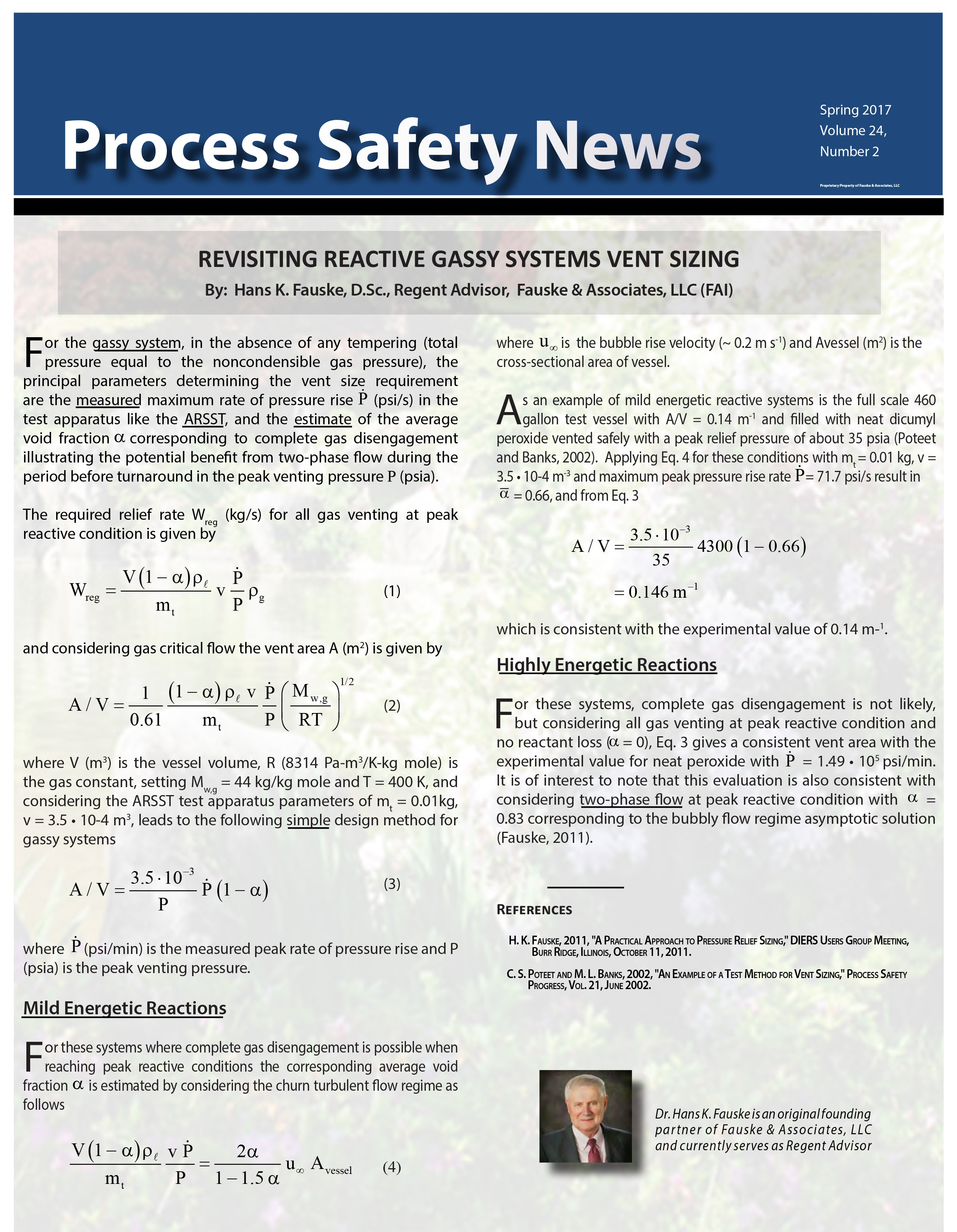 Process Safety News - Spring 2017