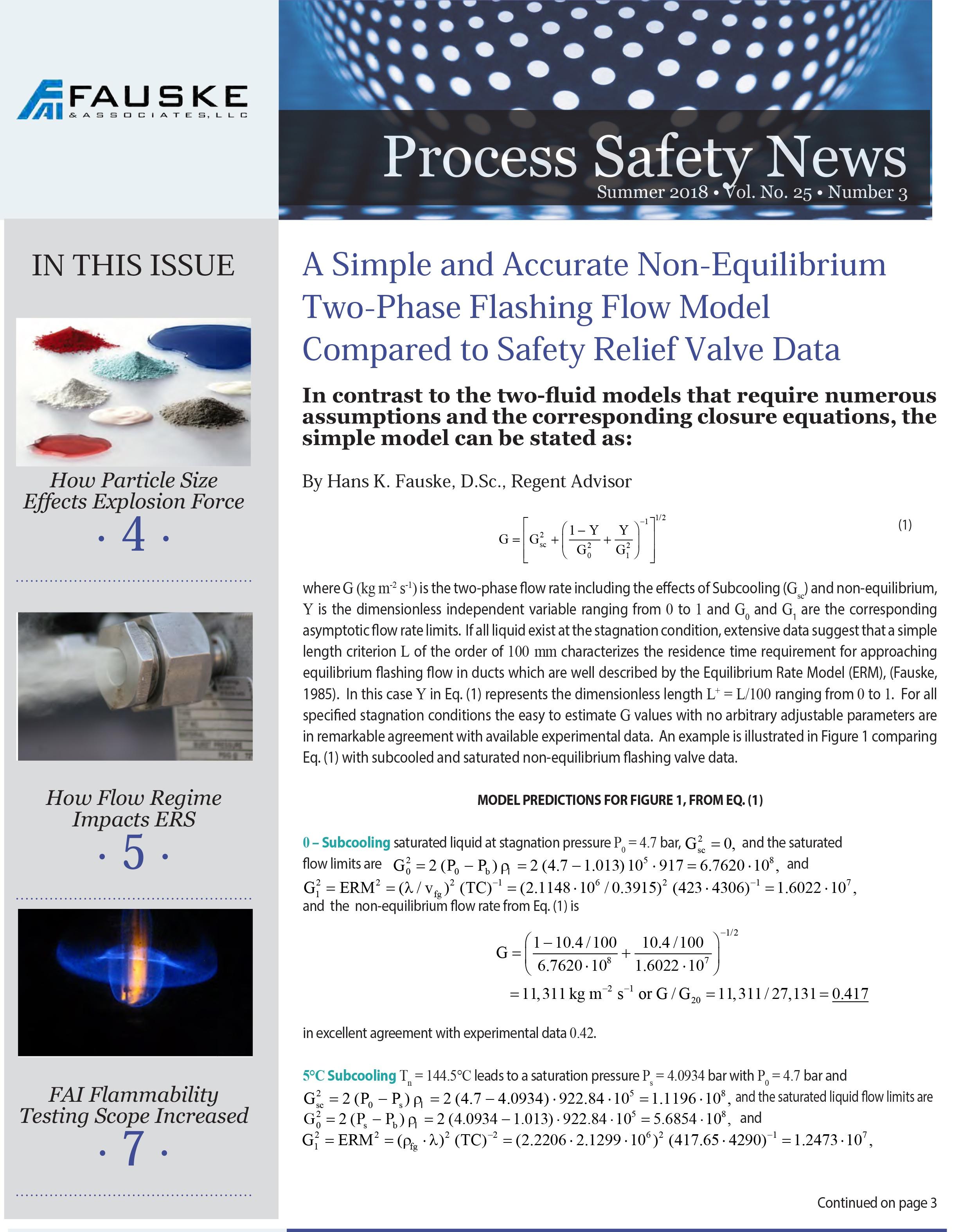 Summer 2018 Process Safety News