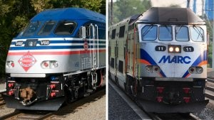 MARC and VRE trains