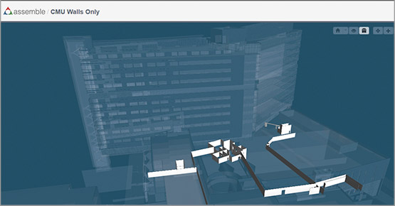 Assemble screenshot of BIM model