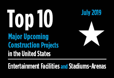 Top 10 major upcoming entertainment facility and stadium-arena construction projects - U.S. - July 2019 Graphic