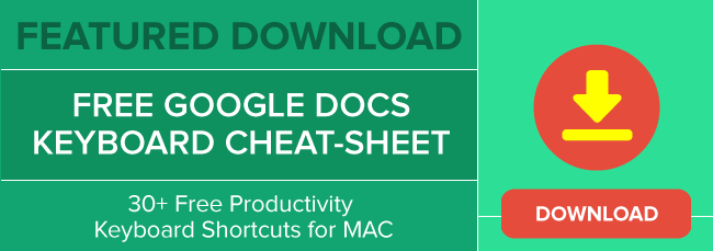 Google Docs Keyboard Shortcuts - FREE PDF Cheat Sheet