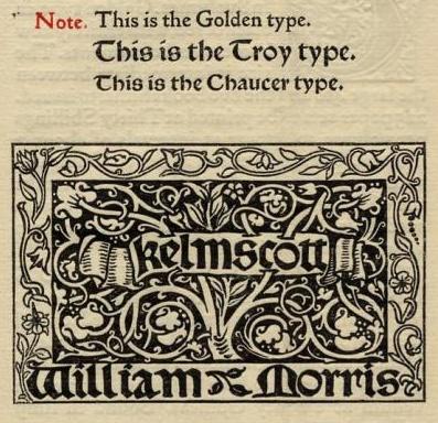 William Morris and the Kelmscott Press