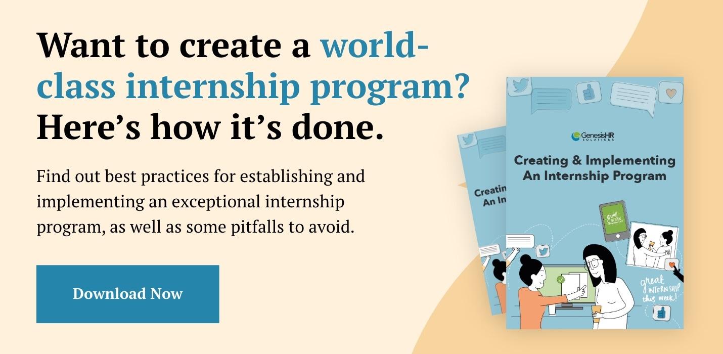 Keys to a successful internship program