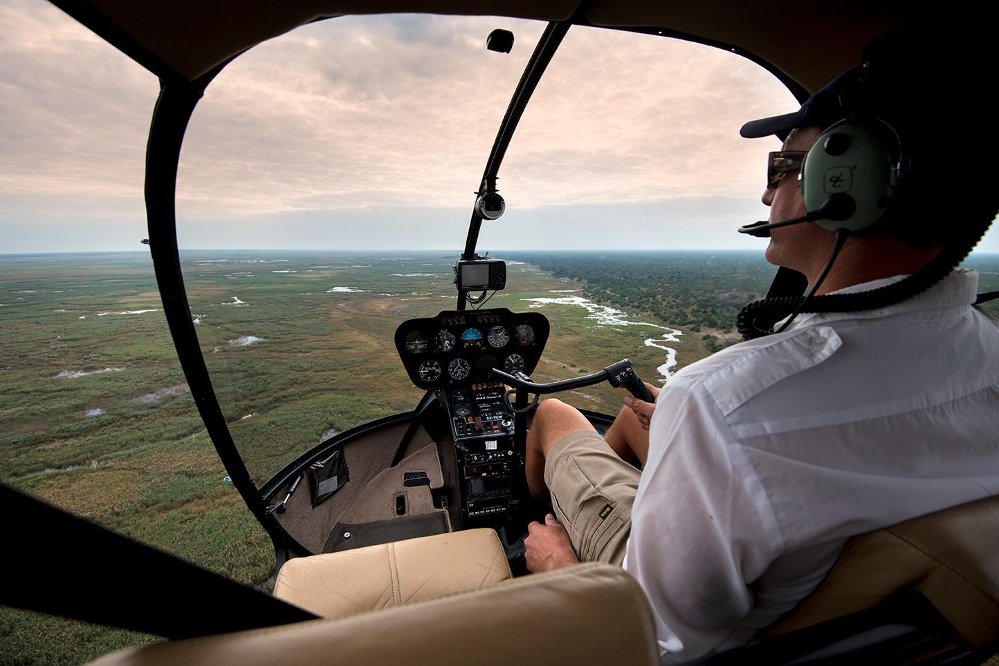 Helicopter flight_ chose national park
