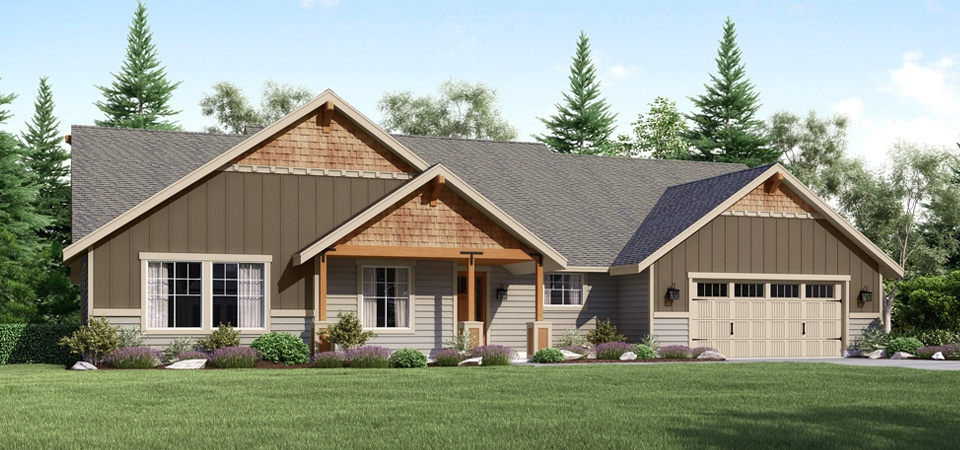 Featured floor plan take a walk through the madison for Custom craftsman house plans