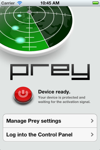 Prey for iOS screenshot