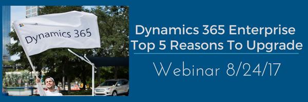 Dynamics 365 Enterprise Webinar / Video