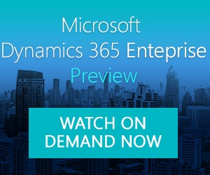 Dynamics 365 Enterprise Video Demo