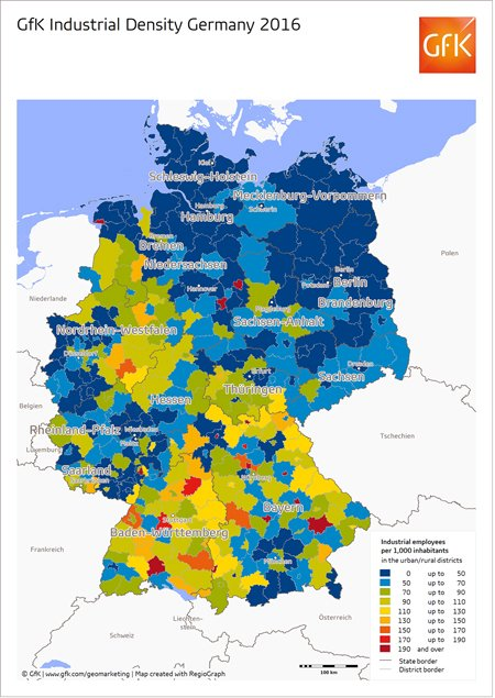 Map Of The Month Industrial Density Germany