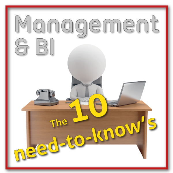 Business Intelligence voor managers: Need-to-know #10 BI-Organisatie