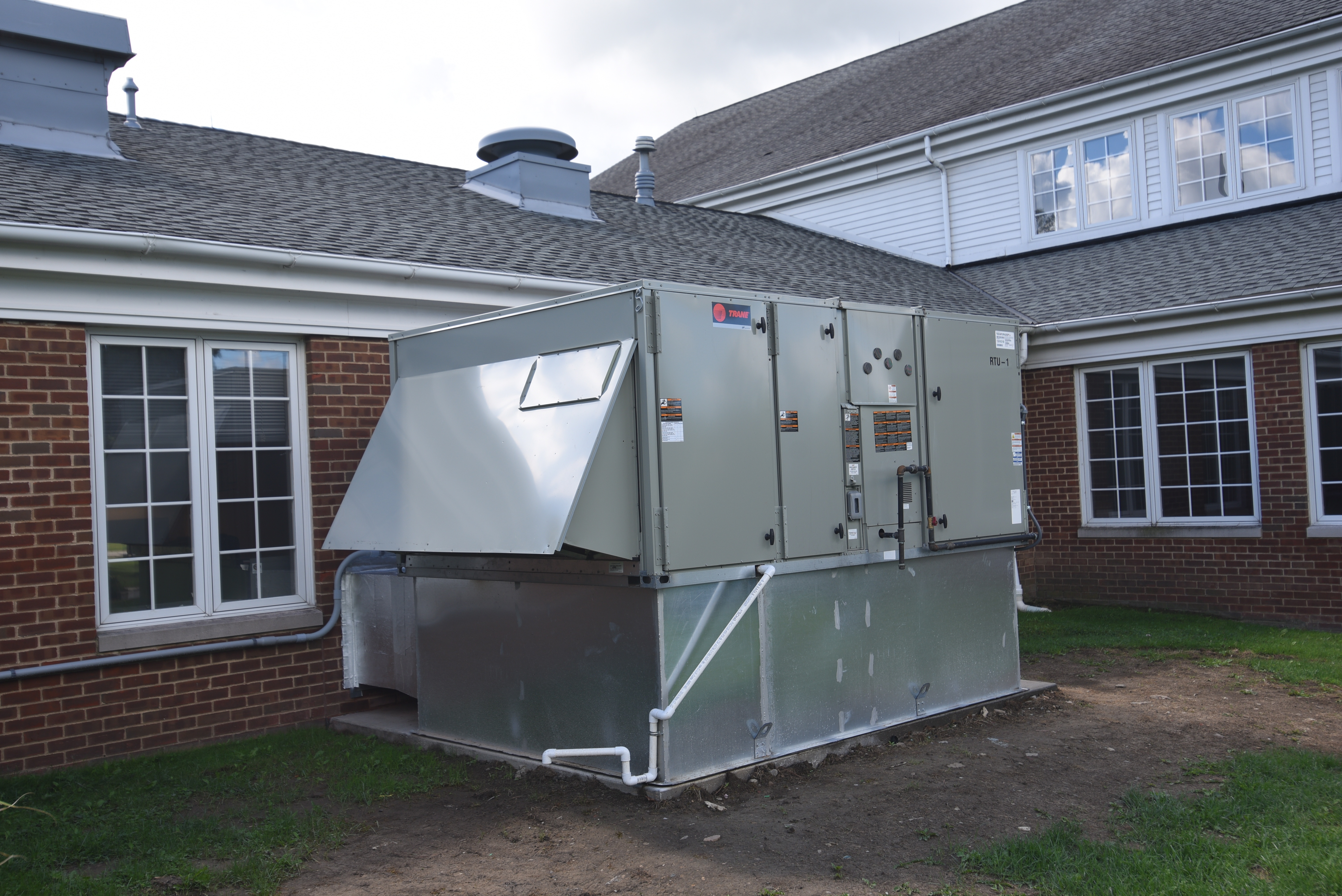 20 Ton Hvac Split System To Self Contained Heating Cooling