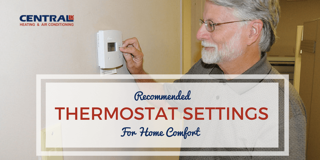 Recommended Thermostat Settings Png