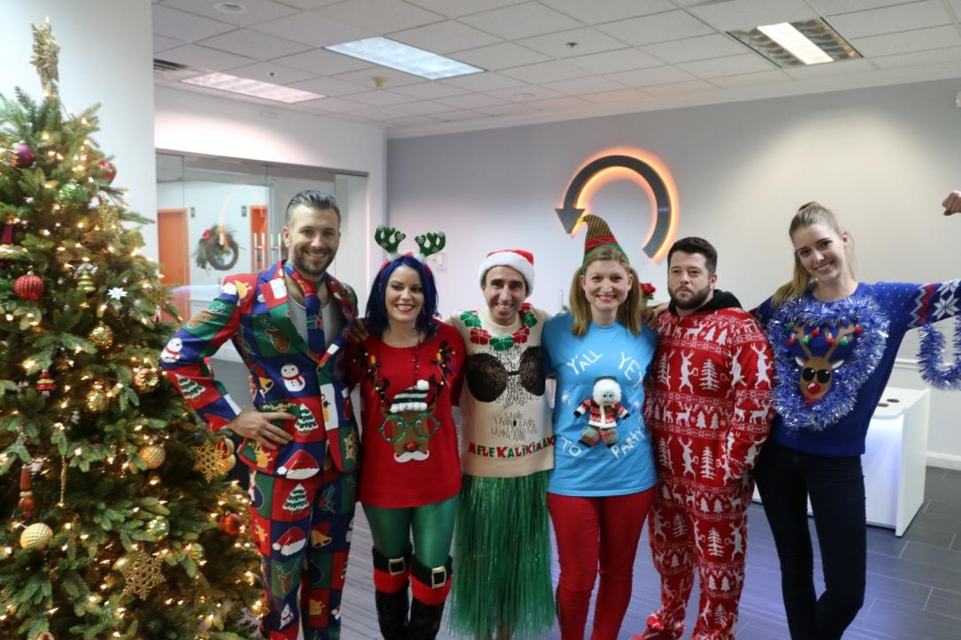 Ugly christmas sweater contest winners