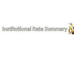 Institutional Rates Summary