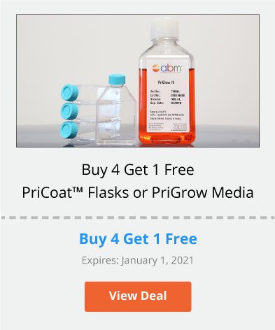 Buy 4 Get 1 Free on PriCoat™ Flasks or PriGrow Media