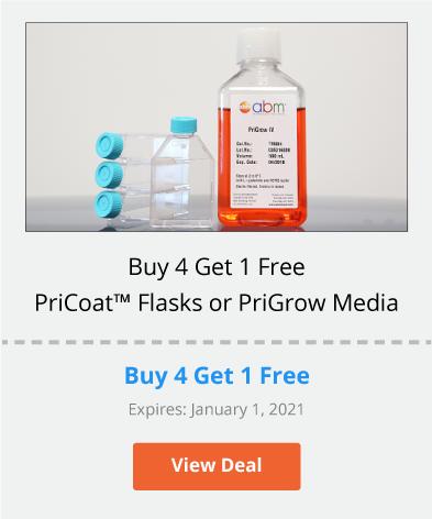 Buy 4 Get 1 Free on PriCoat™ Flasks or PriGrow Media