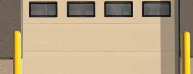 Steel Sectional Commercial Door With Windows