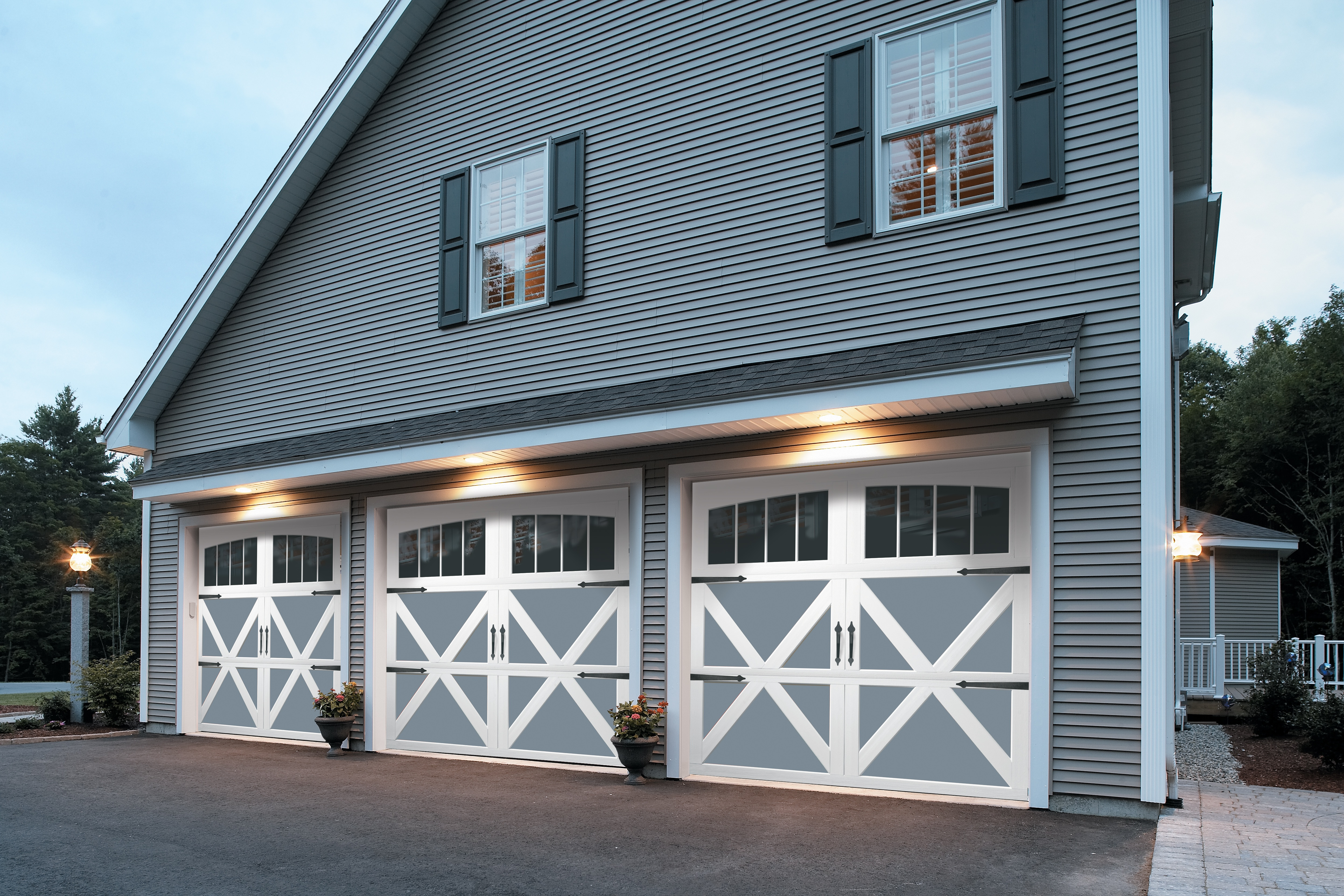 Garage door illusions for Carriage style