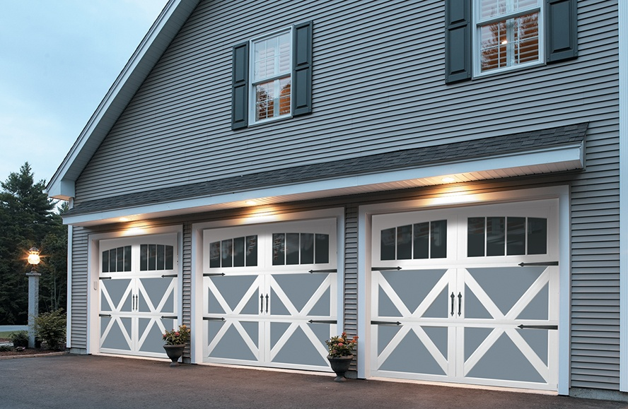 Carriage house residential garage doors from overhead door for Garage that looks like a house