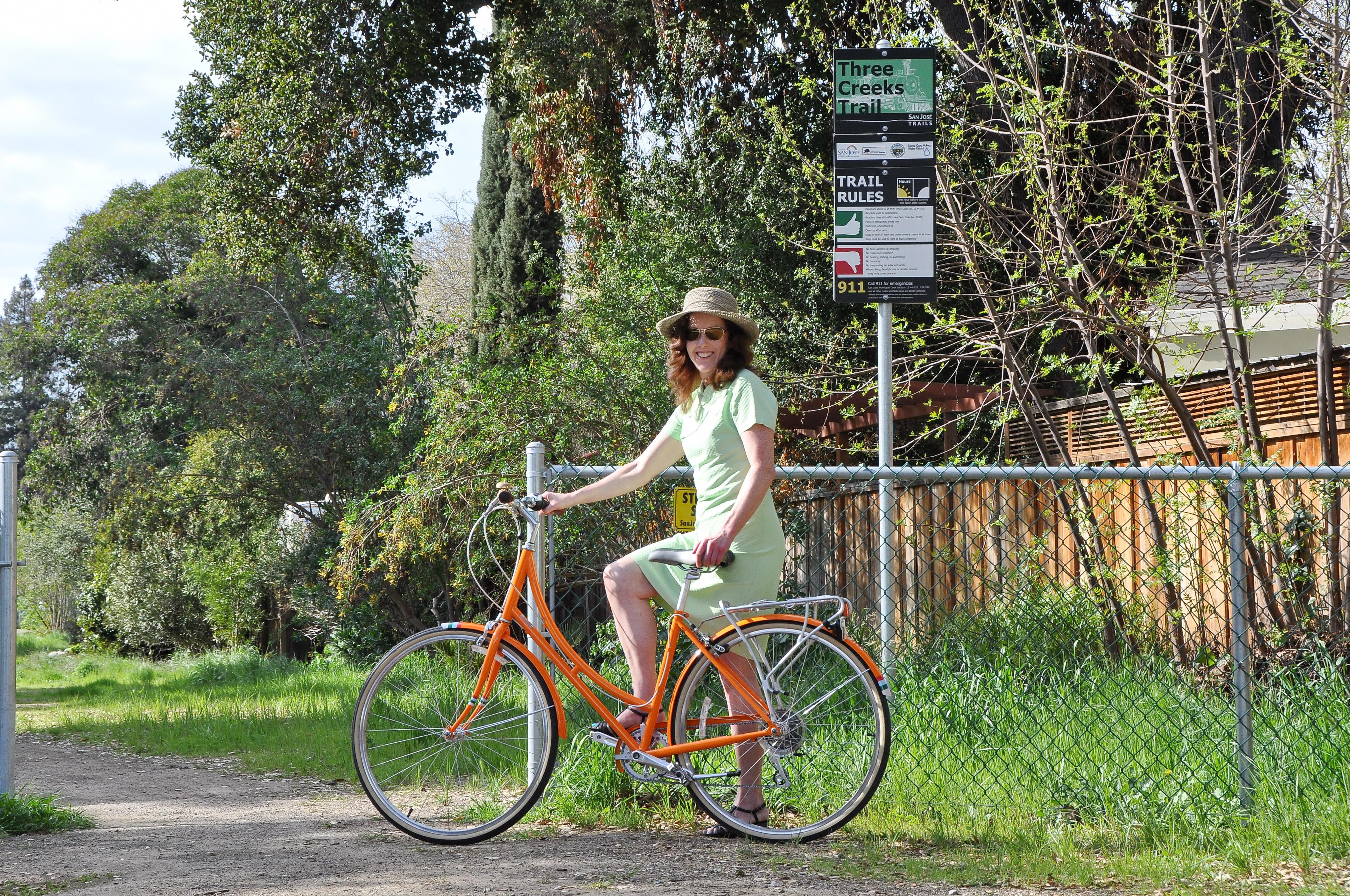 Three Creeks Trail - Cyclist - L.Ames - 02-28-2014 - 7
