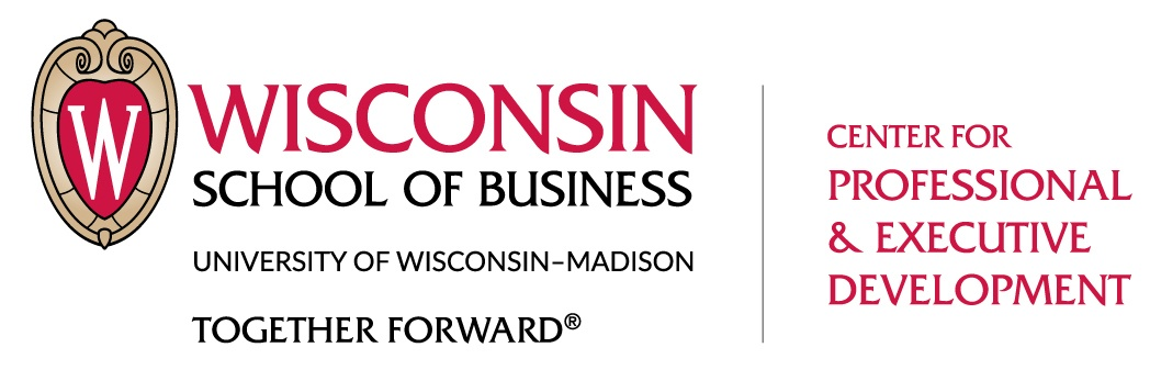 Wisconsin School of Business Center for Professional and Executive Development, logo