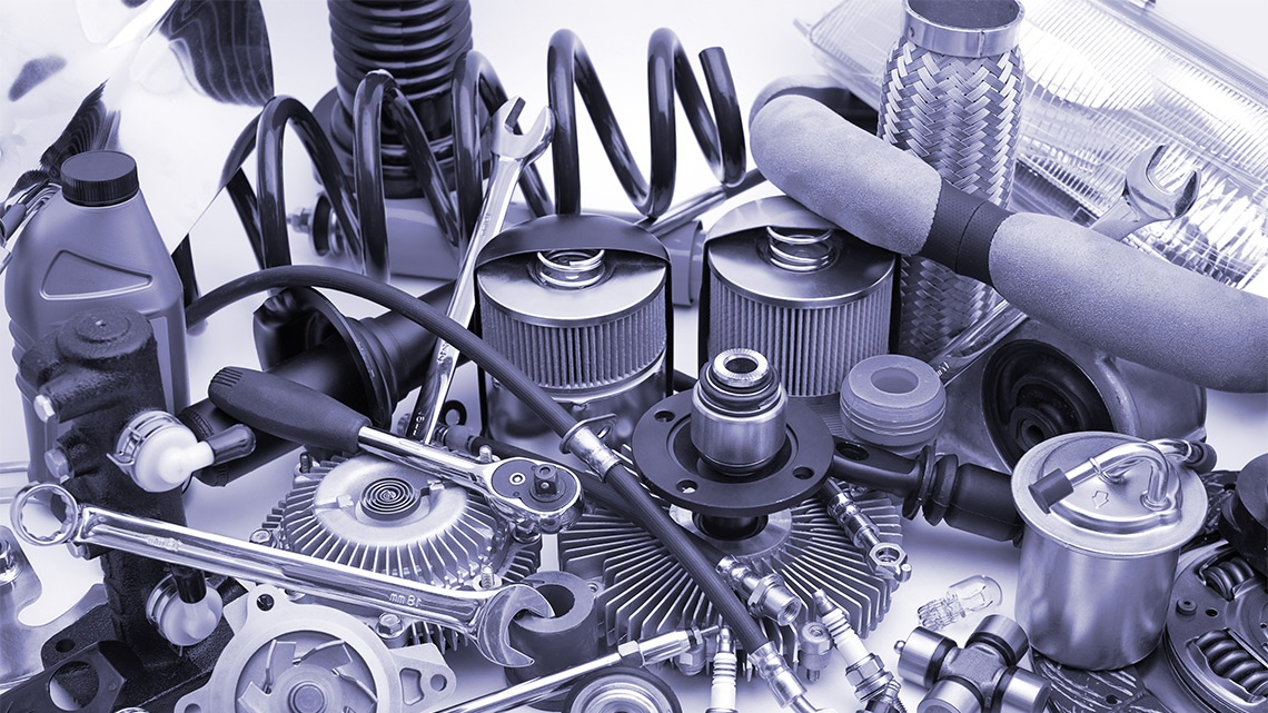 reman cleaned engine parts