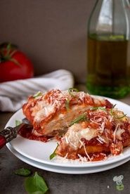 Baking, Not Frying, Makes This Chicken Parmesan Recipe a Healthier Alternative