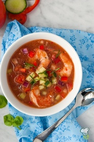 Serve Up This Heart-Healthy Shrimp Gazpacho