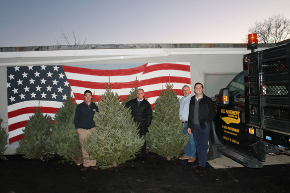 100 Christmas trees donated to Veterans by U.S. Pavement
