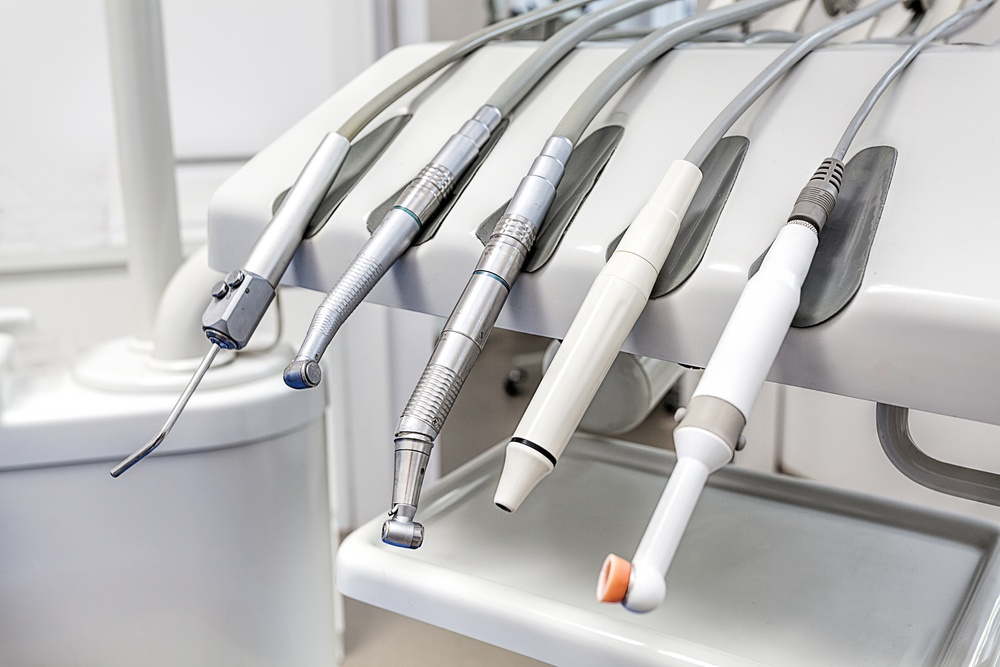 Closeup of a modern dentist tools, burnishers